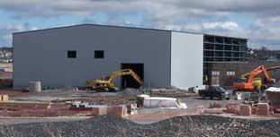 STPA building under construction